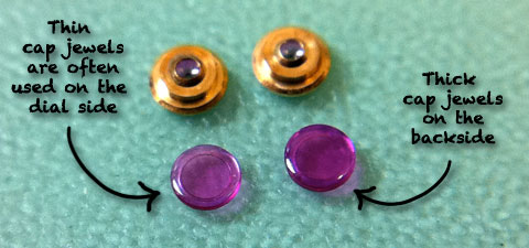 Cap Jewels from a Mechanical Watch
